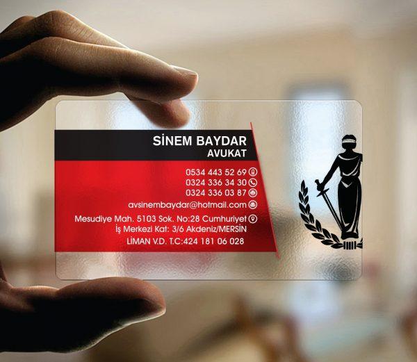 Avukat Şeffaf Kartvizit YM-1037