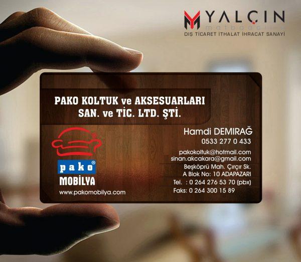 Aksesuar Şeffaf Kartvizit YM-1015