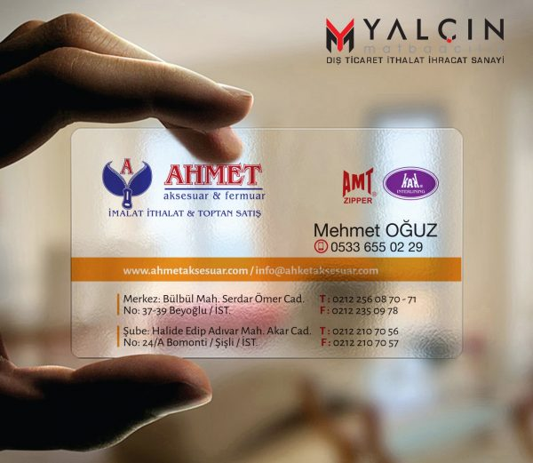 Aksesuar Şeffaf Kartvizit YM-1017