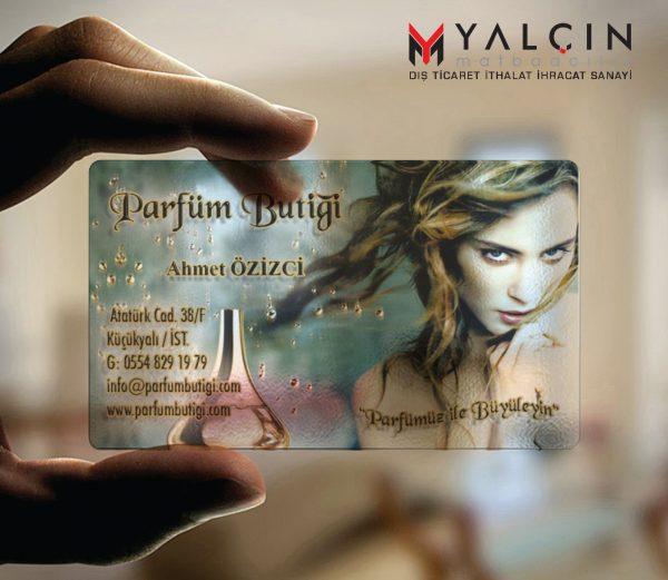 Aksesuar Şeffaf Kartvizit YM-1020