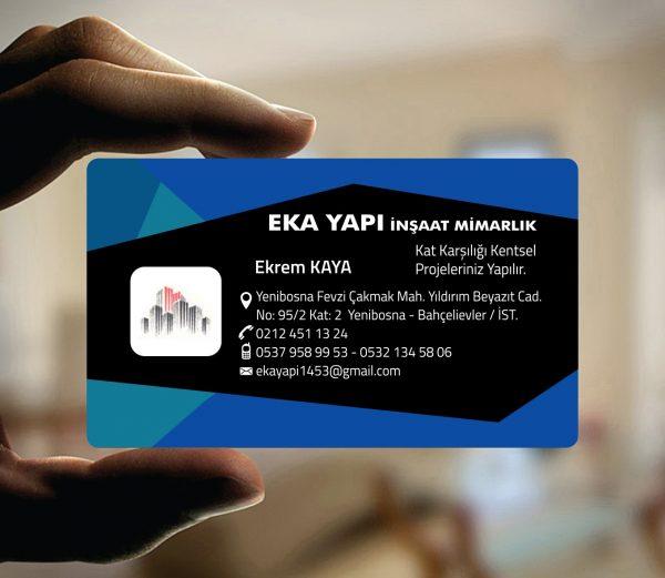 Gayrimenkul Şeffaf Kartvizit YM-1504