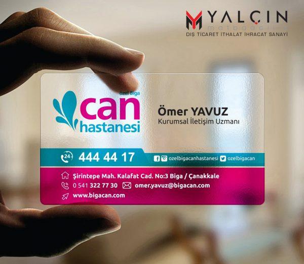 Doktor Şeffaf Kartvizit YM-1310