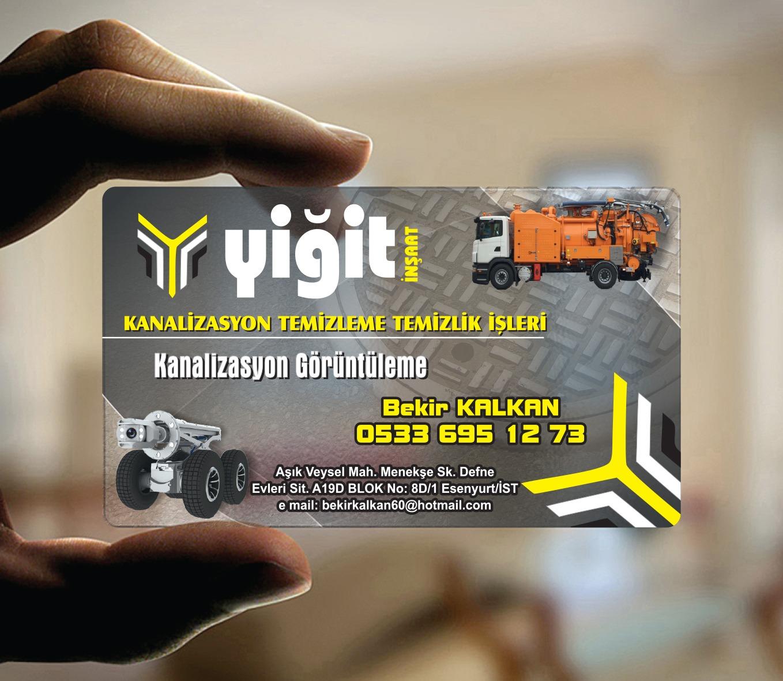 inşaat Şeffaf Kartvizit YM-1556