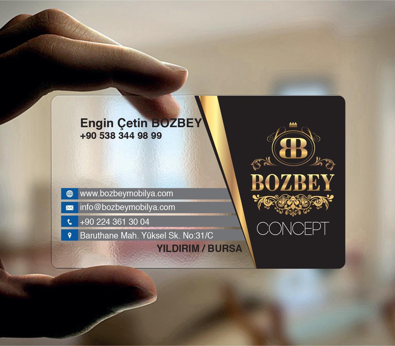 Bozbey Concept Şeffaf Kartvizit Tasarımı
