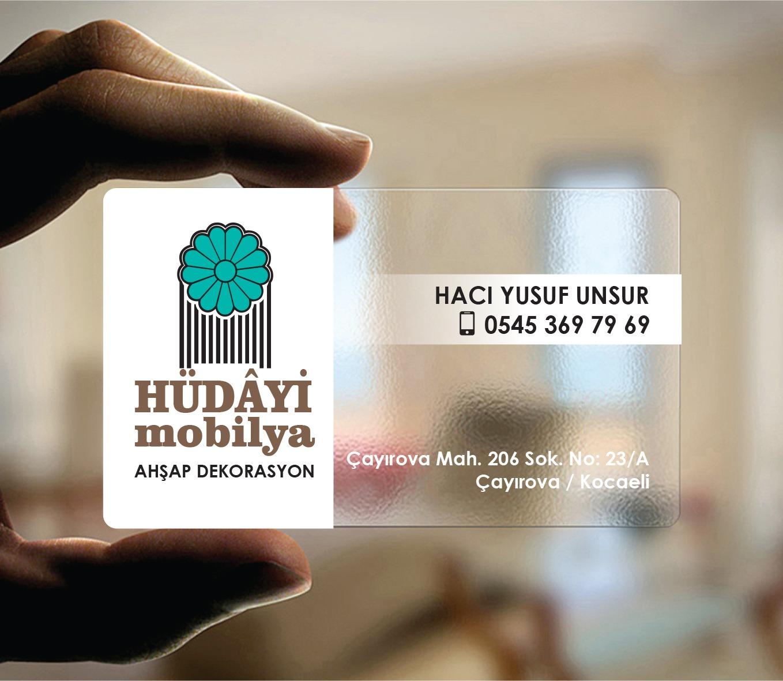 Hudayi Mobilya Şeffaf Kartvizit Tasarımı