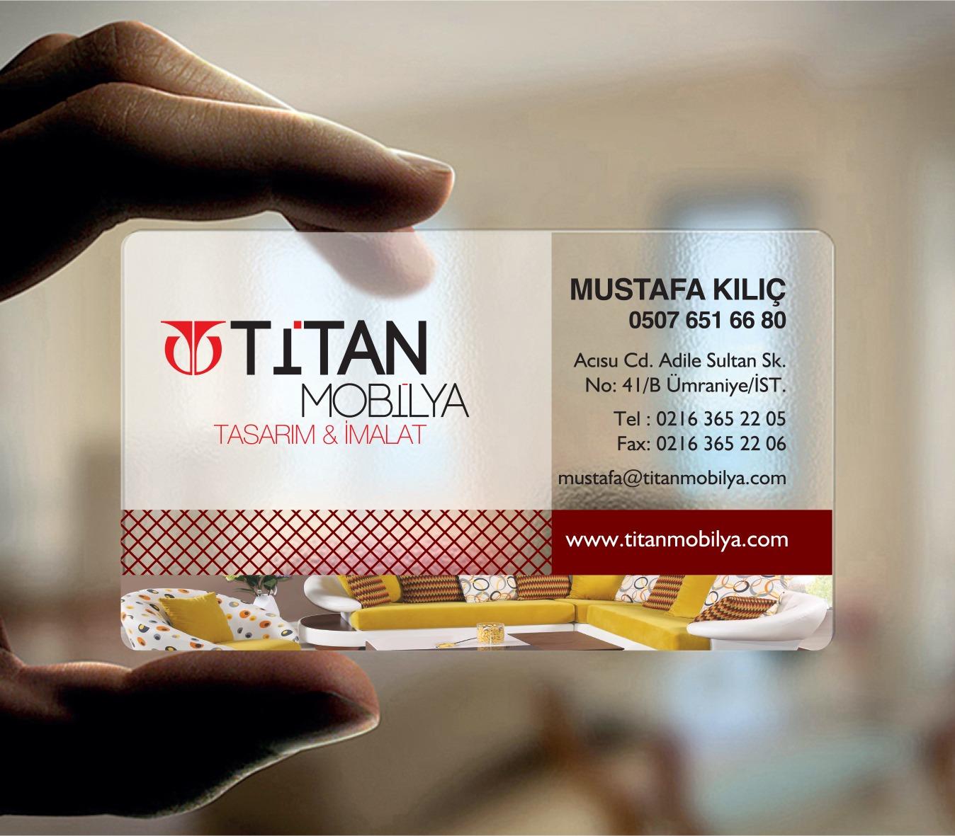 Titan Mobilya Şeffaf Kartvizit Tasarımı