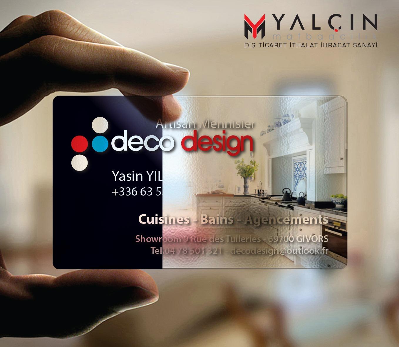Deco Design Şeffaf Kartvizit Tasarımı
