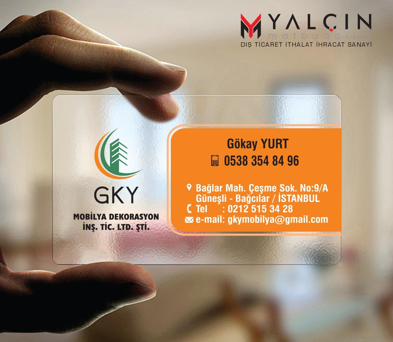 Gky Mobilya Şeffaf Kartvizit Tasarımı