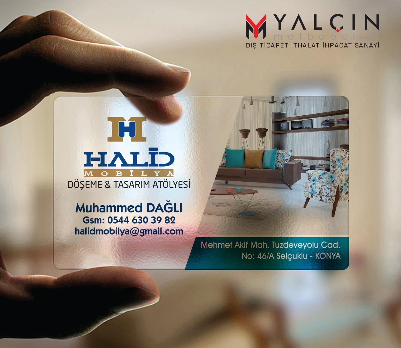 Halid Mobilya Şeffaf Kartvizit Tasarımı