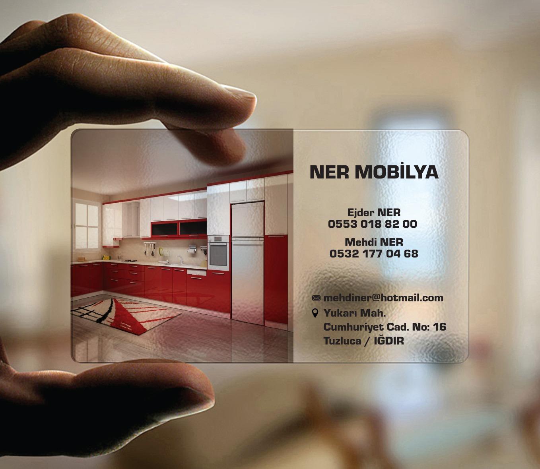 Ner Mobilya Şeffaf kartvizit Tasarımı